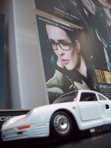 Porsche Design Window Display Sportscar Visual Q Eyecare Melbourne