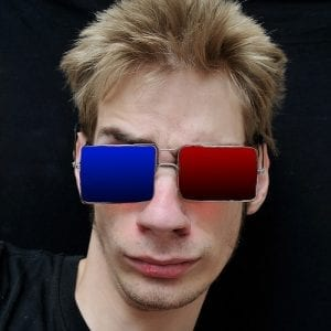 Red blue 3D glasses fashion frames Visual Q Eyecare South Yarra