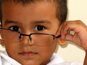 Little boy looking cool with glasses Visual Q Eyecare Melbourne